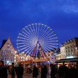 Center of Lille, the Christmas atmosphere, with a carousel, dusk — Stock Photo #1926073