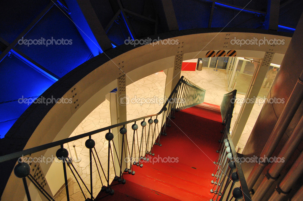 Modern interior in The Atomium structure in Brussels  — Stock Photo #1925459