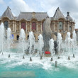 Center of Lille, relaxed summer atmosphere with a fountain — Stock Photo #1946257