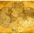Stock Photo: Old paper world map.