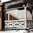 Cottage in winter.Fragment. — Stock Photo