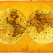 Old paper world map. — 图库照片 #1946638