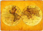Old paper world map. — Stock Photo