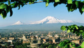 View on mountain Ararat. — Stock Photo