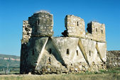Ruins of an ancient fortress. — Foto de Stock