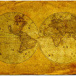Stock Photo: Vintage world map.