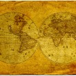 Vintage world map. — Stock Photo