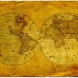 Vintage world map. — Stock Photo