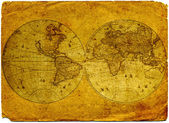 Vintage world map. — Foto de Stock