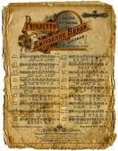Old Sheet Music. — Foto de Stock