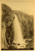 Vintage postcard.Waterfall. — Stock Photo