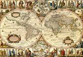 Mappa d'epoca. — Foto Stock