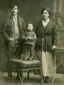 Family.Vintage portrait. — Stock Photo