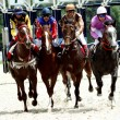 Horse race of the prize Dombai. — ストック写真