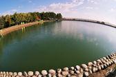 Blue lake. — 图库照片