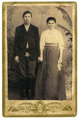 Antique family photo — Foto de Stock