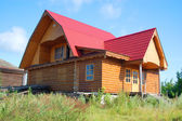 Traditional russian rural house — Stock Photo