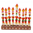 Hanukah menorah from candies — Stock Photo