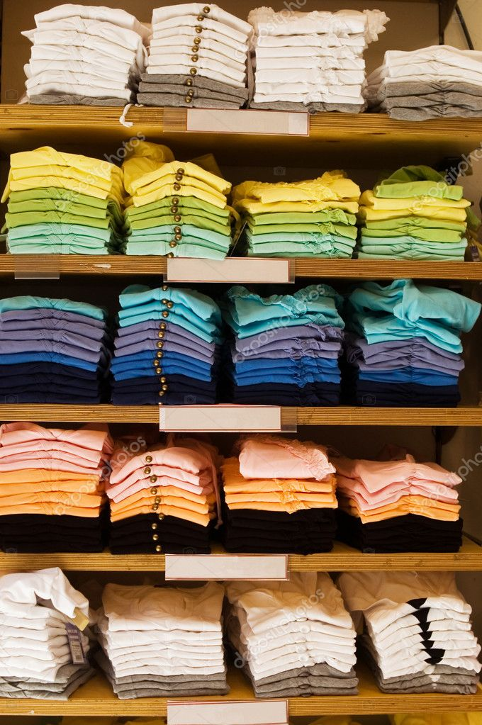  clothes shop of colorful t-shirts   Stock Photo #2005722