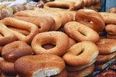 Panes de bagels — Foto de Stock