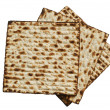 Jewish passover matzah - Stock Photo