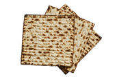 Jewish passover matzah — Stock Photo