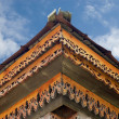 Wooden fretted roof — Stockfoto