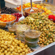 Stock Photo: Assortment of olives, pickles and salads