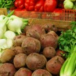 Vegetables on market stand — Stock Photo
