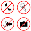Royalty-Free Stock Vector Image: Four forbiding signs