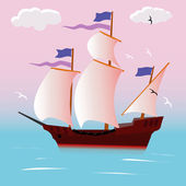 Sailing vessel — Stock Vector