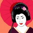 Japanese geisha — Stock Vector