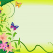 Background with butterfly — Stock vektor