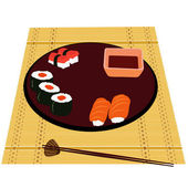 Japanese kitchen — Stock Vector
