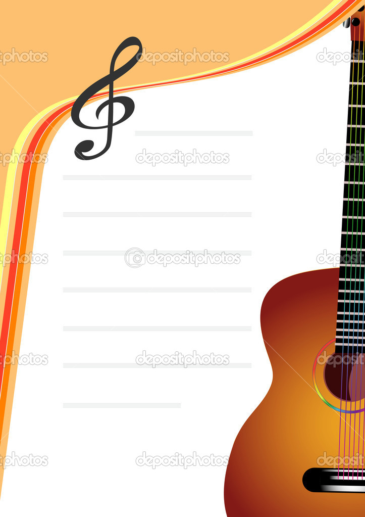 Vector background with guitar — Stock Vector #1733498