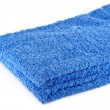 Stack of two blue towels — Stock Photo
