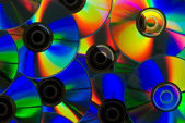 Colored compact discs — Stock Photo