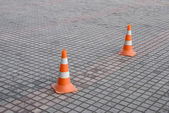 Highway Cones — Stock Photo