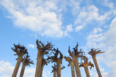 Abstract installation - roots of trees — Stock Photo