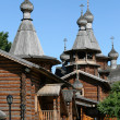 Wooden Russian Orthodox church - Stock Photo