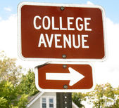 College Avenue sign — Stock Photo