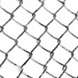 Hoarfrost on chain link fence isolated - Stock Photo