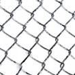 Stock Photo: Hoarfrost on chain link fence isolated
