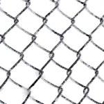 geadas na cerca da ligação chain isolada — Foto Stock