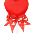 Valentines red heart on a stick — Stock Photo