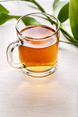Cup of black tea — Stock Photo