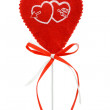 Valentines heart on a stick — Stock Photo