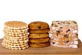 Wafers, biscuits and cake — Stock Photo