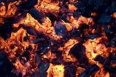 Glowing coals background — Stock Photo