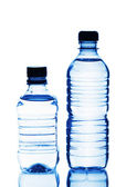 Two plastic bottles of water — Stock Photo